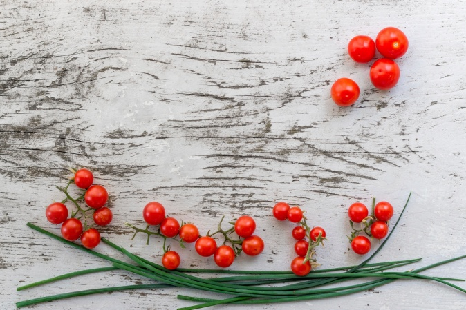 Canva - Cherry Tomatoes on White Wooden Surface