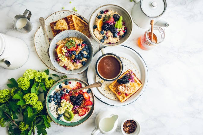 Photo by StockSnap--894430Canva - Flat Lay of Delicious Breakfast with Berries