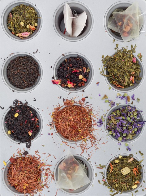 Canva - Herbal and Floral Teas in Muffin Tins
