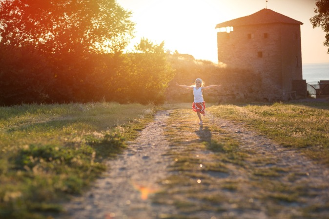 Canva - Girl Running Outdoors